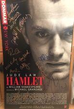 Jude Law & Cast signed Hamlet 14x22  Broadway Poster Card. Sherlock Holmes