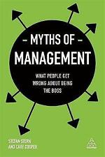 Myths of Management by Stefan Stern, Cary Cooper 9780749480233