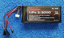 Graupner Senderakku flach LiPo 3/3000 #3439 11,1V 3000 mAh