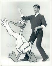 1984 Press Photo Comic Actor Jim Carrey Duck Factory 1980s TV Show