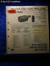 Sony Service Manual CCD TR530E /TR550E /TR570E /TR650E /TR750E (#3692)