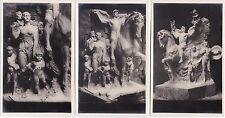 #MILITARI: MONUMENTO AI CADUTI 1a GUERRA- 3 CARTOLINE FOTOGRAFICHE.. WWI
