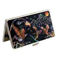 MOP American Eagle Design Business Credit Name ID Card Case Black Wallet Holder