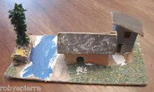 Presepe vintage crib italy ambientazione casette casetta con alberello torrente