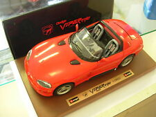 BURAGO 1:18 MADE IN ITALY AUTO DODGE VIPER RT/10 1992 CON BASE IN LEGNO   3525