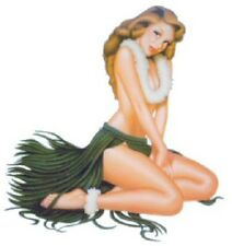 """Vintage 50s Hula Girl Leilani Vinyl Stickers Decal 6"""" Rare & Out of Print"""