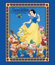 Disney blanche neige et 7 nains panneau tissu coton imprimé quilting - 90 cm x 110 cm