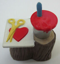 Hallmark Merry Miniature Valentine Artist Paint Scissors On Tree Stump