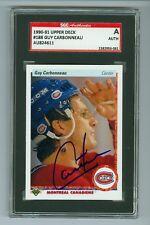 Guy Carbonneau Autographed 1990-91 Upper Deck Card #188 SGC Authentic Encased