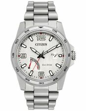 Citizen AW7031-54A Mens Eco-Drive Sport Stainless Steel Silver-Tone Dial Watch