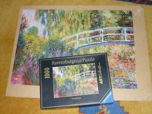Ravensburger Puzzle 1000 T Claude Monet Japanische Brücke im Garten von Giverney