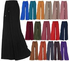 Women's Pleated Palazzo Wide Leg Lounge Pant One/ Plus Size