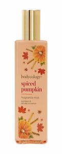 Bodycology Spiced Pumpkin Fragrance Mist Body Spray 8oz Full Size Cinnamon Spice