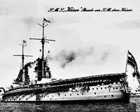 New 8x10 World War I Photo: German Battleship KAISER on Parade circa 1911 - 1914