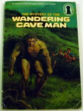 Three Investigators Mystery of the Wandering Cave Man no.34 1st Print Keyhole pb
