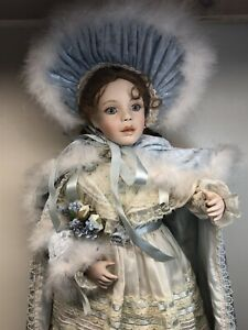 "24"" Marie Osmond Collette Porcelain & Cloth Doll Beautiful Redhead 833/1000"