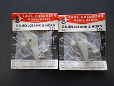 CARL GOLDBERG 1/2A NYLON BELLCRANK ASSEMBLIES (2) NEW IN PACKAGE