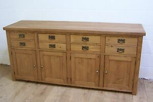 SOLID OLD RECLAIMED WOOD SHAKER STYLE SIDEBOARD HAND WAXED MADE TO ANY SIZE