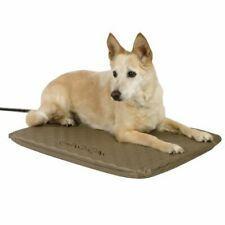 Heated Pet Bed Outdoor Soft Orthopedic Kennel House Warmer Dog Mat Cushion Foam
