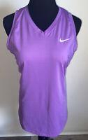 Nike Pro Combat Dri-Fit Top Fitted Womens Medium Purple Tank Top Shirt