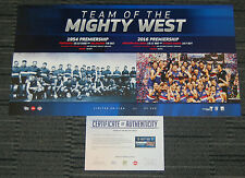 WESTERN BULLDOGS 2016 AFL PREMIERS TEAM OF THE MIGHT WEST LIMITED EDITION PRINT