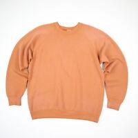 Vtg 80s Sun Faded Creamy Orange Raglan Sweatshirt Surf Skate Grunge S/M?