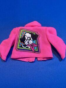 Skipper Puppy Shirt Genuine Mattel fashion. Vintage.  Neon Pink 💖