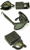 New Authentic Ray-Ban RB 4105 601 Black Frame / Green Folding Wayfarer Lens 50mm