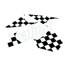 Italjet Dragster 50/125/180 Black Chequered Flag Decal Sticker Kit