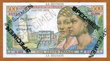 SPECIMEN, Reunion, 500 Francs, ND (1947), Pick 46, UNC