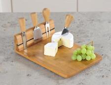 Käsebrett aus Bambus mit Besteck, Käse Schneidebrett, Servierbrett, 30x20cm, Neu