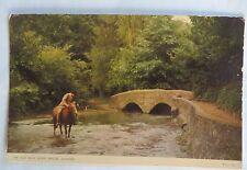 VTG JARROLD & SONS OLD PACK HORSE BRIDGE PPC ELIZABETH II STAMP COLORPHOTO RARTS
