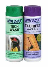 Nikwax Tech Laver & Tx Direct 300ml Twin Pack nettoyage imperméable outdoor wear
