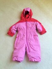 REI Infant baby girls size 12 months snowsuit I-Grow gowth tuck feature PINk