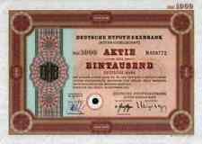 Hypothekenbank DHB Bank 1972 Hannover Frankfurt ING BHF Sal. Oppenheim 1000 DM