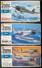 3x Hasegawa-Zero Fighter MITSUBISHI a6m2 a6m3-AEREO KIT: - 1:72 - KIT