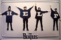 The Beatles Help Letrero de Metal 3D en Relieve Arqueado Cartel Lata 20 X 30CM
