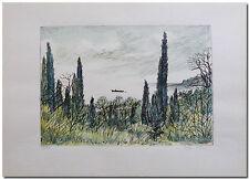 Arno Fleischer - Original Grafik Lithographie JALTA coloriert -06429-