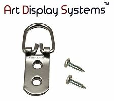 Art Display Systems 2 Hole Heavy Duty Zp D-Ring 6 1/2 Screws–Pro Quality–50 Pack