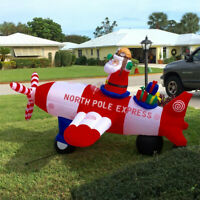 Airblown Rocket Santa 8FT Animated Christmas Inflatable Yard Decoration Gemmy US