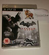 BATMAN ARKHAM CITY PS3 NUOVO SIGILLATO UK PAL Sony PlayStation 3 Arkam DC Harley