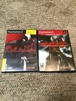 PS2 PlayStation Game Lot Devil May Cry 2 & 3 Lot Of 2 Complete Games Manuals
