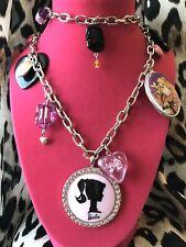 Tarina Tarantino Vintage Classic 70's Barbie 50's Cameo Long Charm Necklace RARE