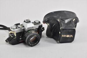f97z80- Vintage Minolta XD5 Kamera, Objektiv: MD 50 mm 1:1.6 Japan mit Tasche