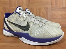 RARE🔥 Nike Zoom Kobe VI 6 Concord White Metallic Purple 429659-100 Sz 8.5 Dukes