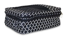 Quatrefoil Shoe Organizer Bag Storage Travel Gym Carry On Duffle Dance Black