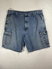 Wrangler Denim Cargo Shorts Men's Size 38 Medium Wash