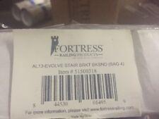 Fortress Al13 1-1/2 in. Aluminum Black Sand Stair External Bracket (4-Pack)