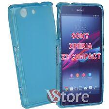 Cover Custodia Per Sony Xperia Z3 Compact Mini D5803 Azzurro + Pellicola