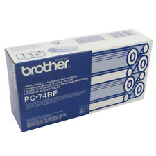 Brother Thermotransferrolle PC-74RF 4er Pack Farbband 144 Seiten NEU